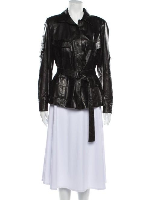 Donna Karan Biker Jacket Black