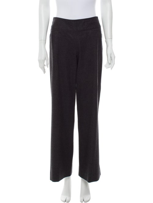 Donna Karan Wool Wide Leg Pants Wool