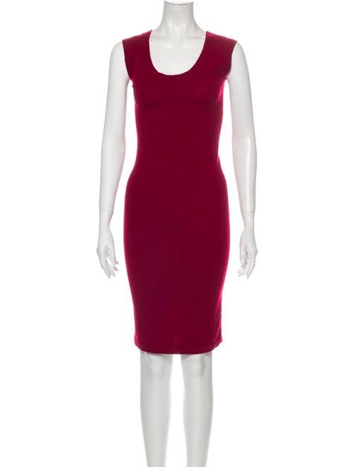 Donna Karan Cashmere Knee-Length Dress Red