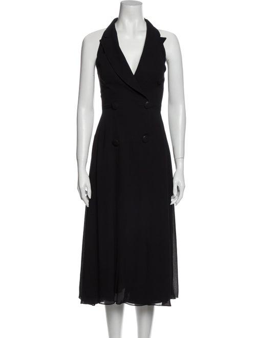 Donna Karan Halterneck Long Dress Black