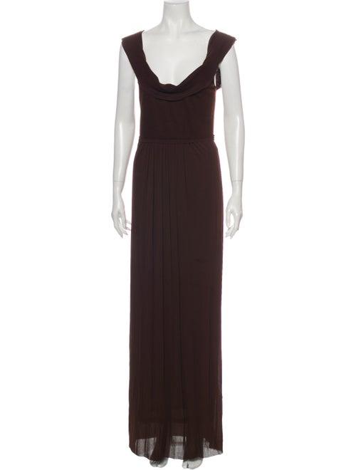 Donna Karan Wool Long Dress Wool