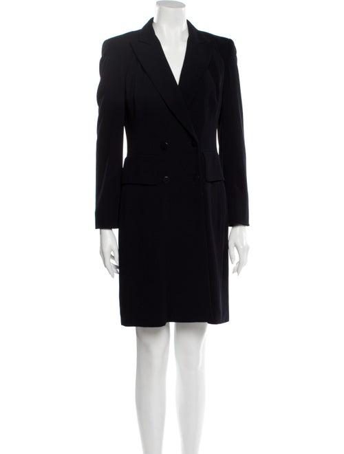 Donna Karan Wool Mini Dress Wool