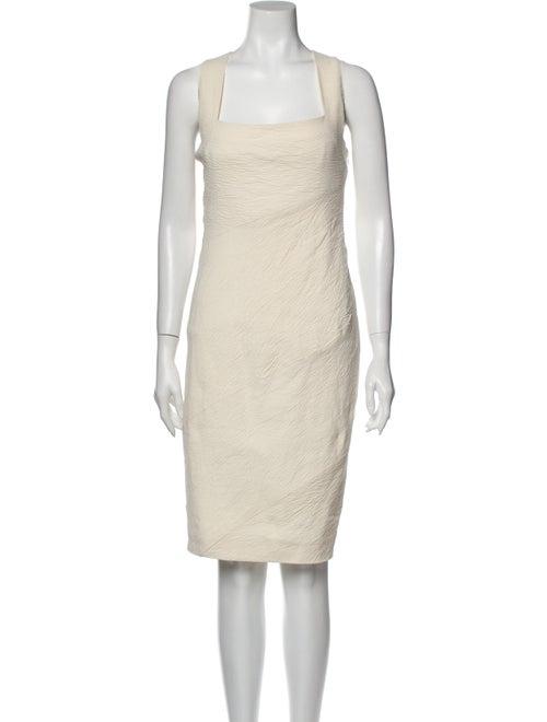 Donna Karan Linen Knee-Length Dress