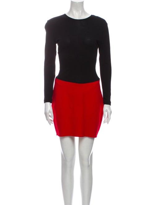 Donna Karan Crew Neck Mini Dress Black
