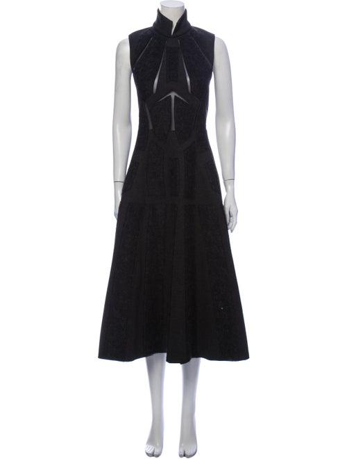 Donna Karan Turtleneck Long Dress Grey