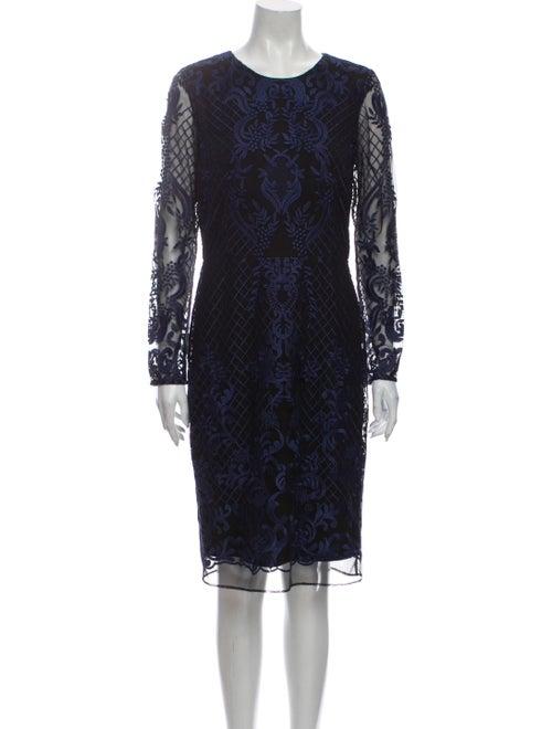 Donna Karan Patterned Knee-Length Dress
