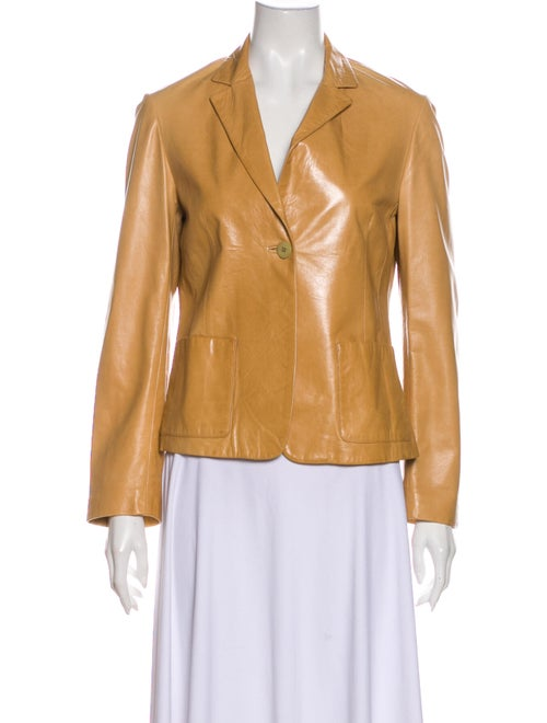 Donna Karan Leather Blazer