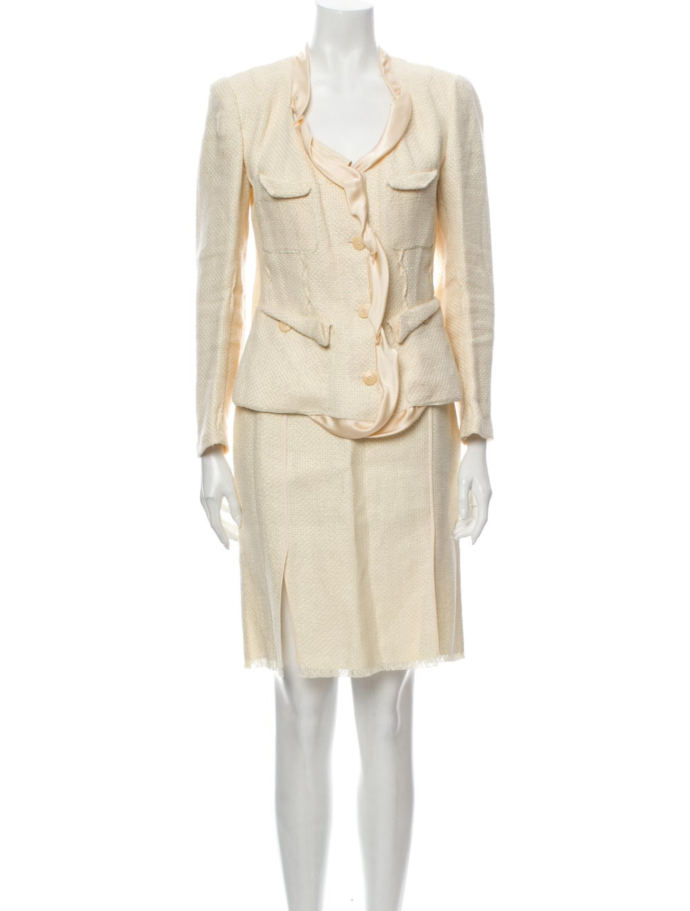 Donna Karan Linen Skirt Suit - image 1