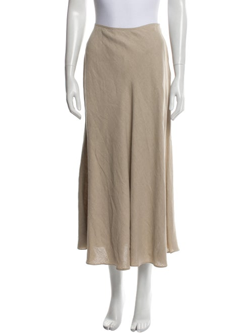 Donna Karan Linen Midi Length Skirt