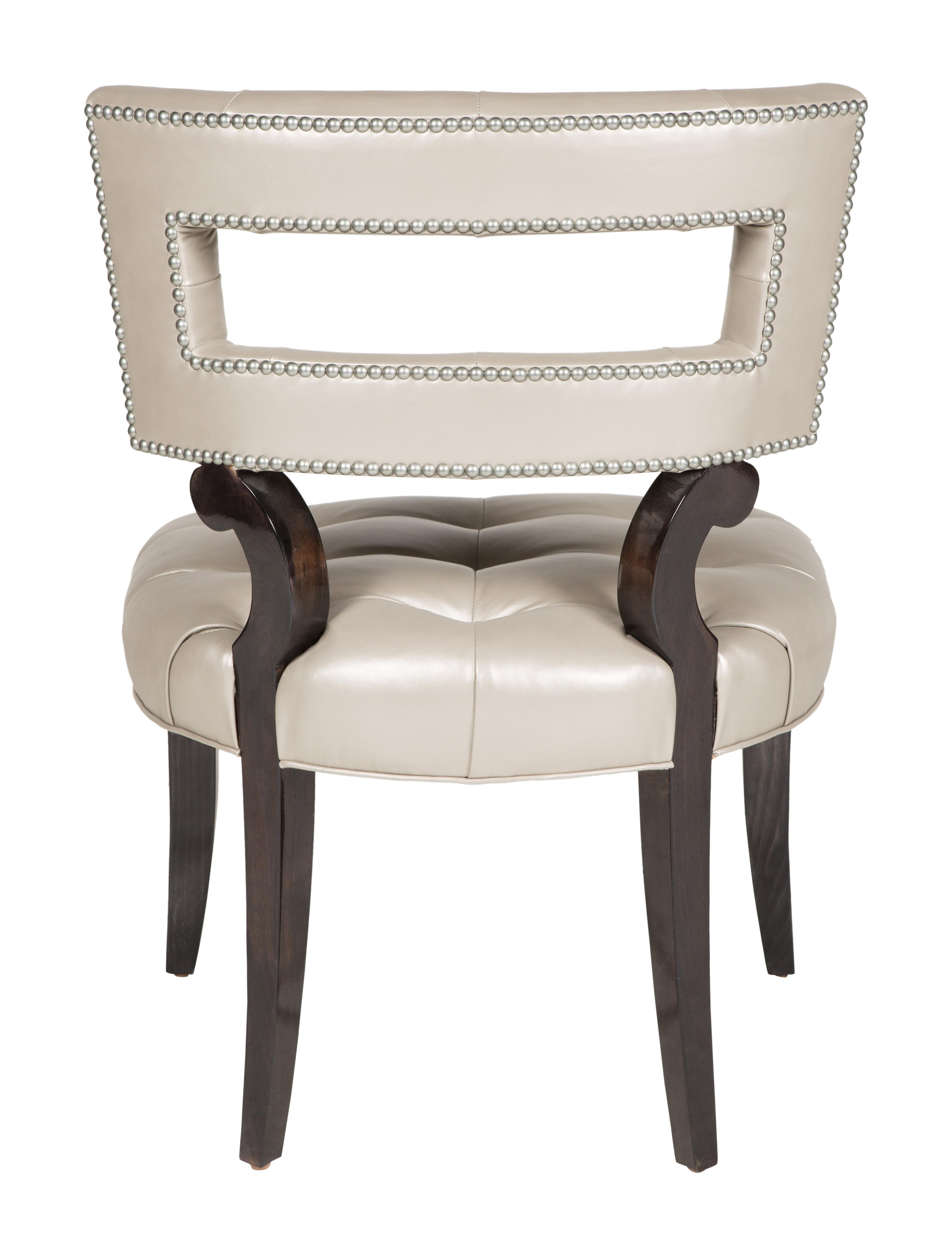 Tufted leather dining chairs - Tufted Leather Dining Chairs