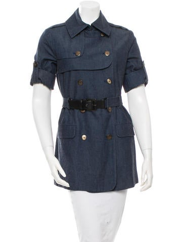Short Sleeve Trench Jacket