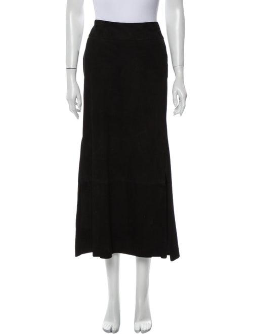 Douglas Hannant Suede Midi Length Skirt Black