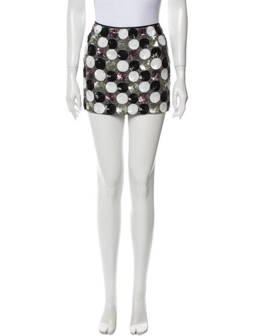 Douglas Hannant Polka Dot Print Mini Skirt Metalli