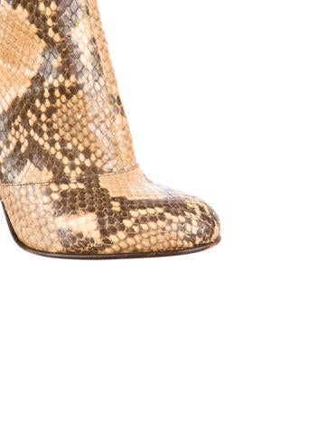 Snakeskin Ankle Boots