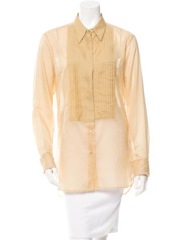 Dries Van Noten Pleated Button-Up Tunic w/ Tags