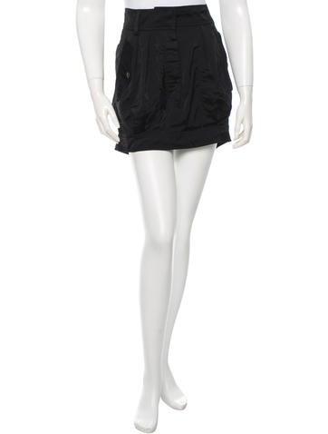Dries Van Noten Black Mini Skirt