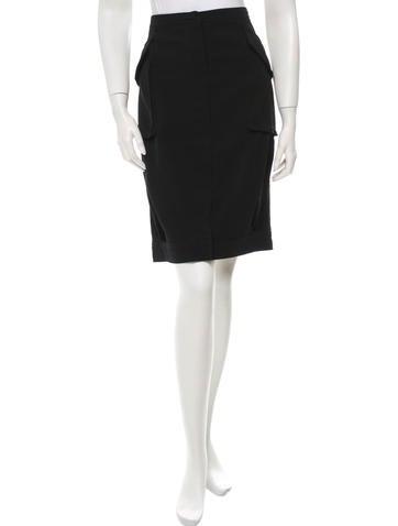 Dries Van Noten Wool A-Line Skirt