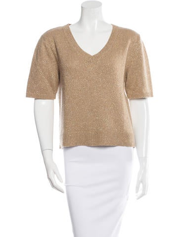 Dries Van Noten Wool Metallic-Accented Sweater None