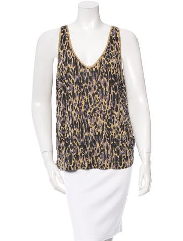 Dries Van Noten Abstract Print Sleeveless Top None