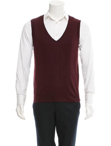 Dries Van Noten Wool V-Neck Vest None