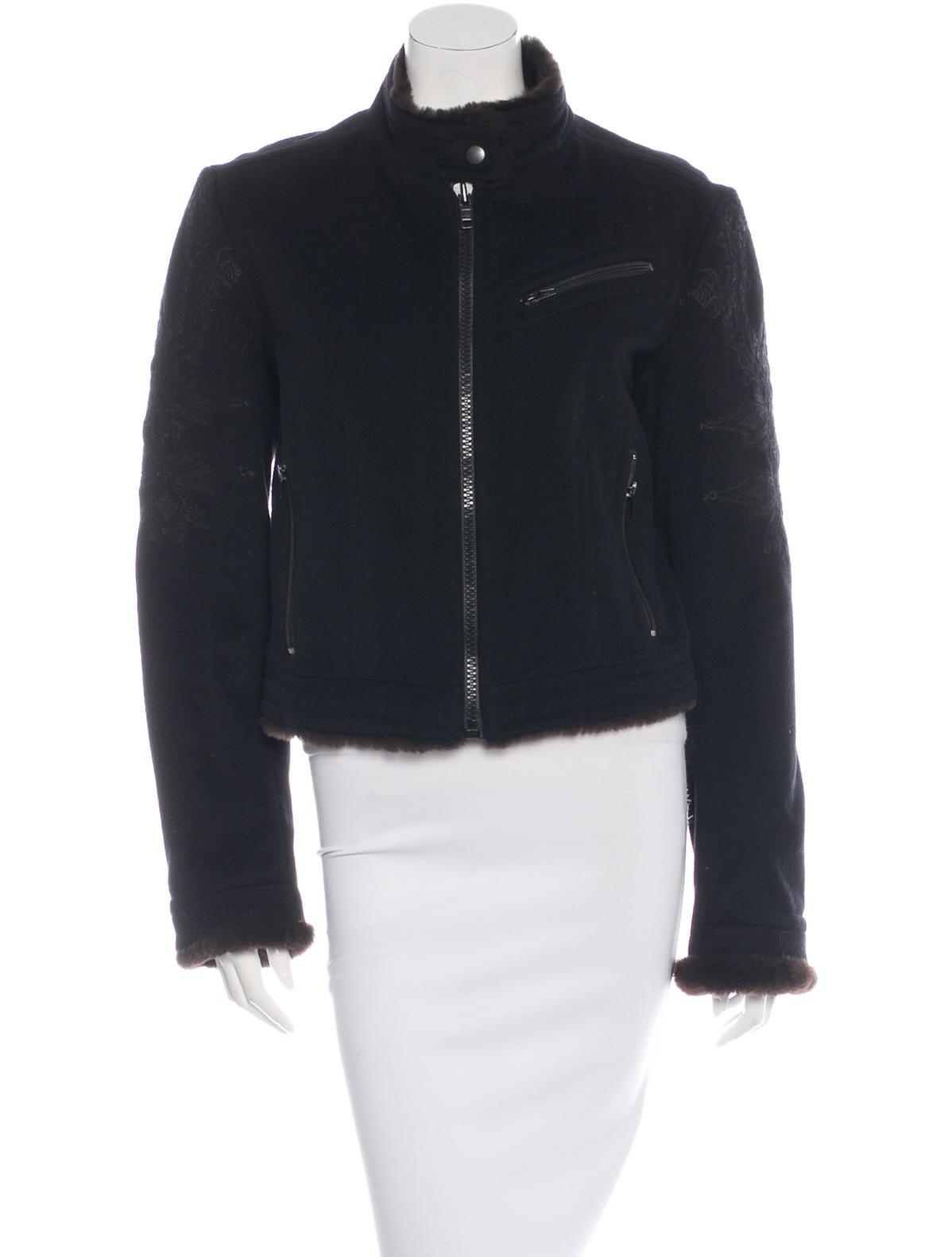 Dries van noten fleece wool embroidered jacket clothing