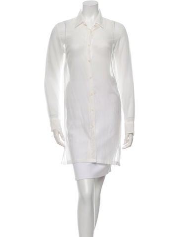 Dries Van Noten Sheer Button-Up Tunic None
