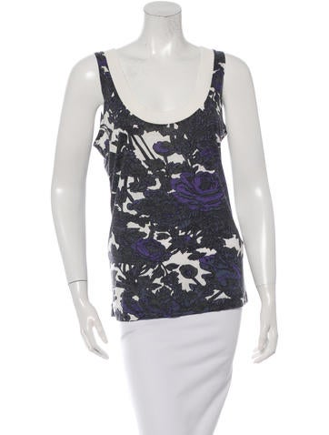Dries Van Noten Printed Sleeveless Top None