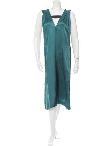 Dries Van Noten Pleated Satin Dress
