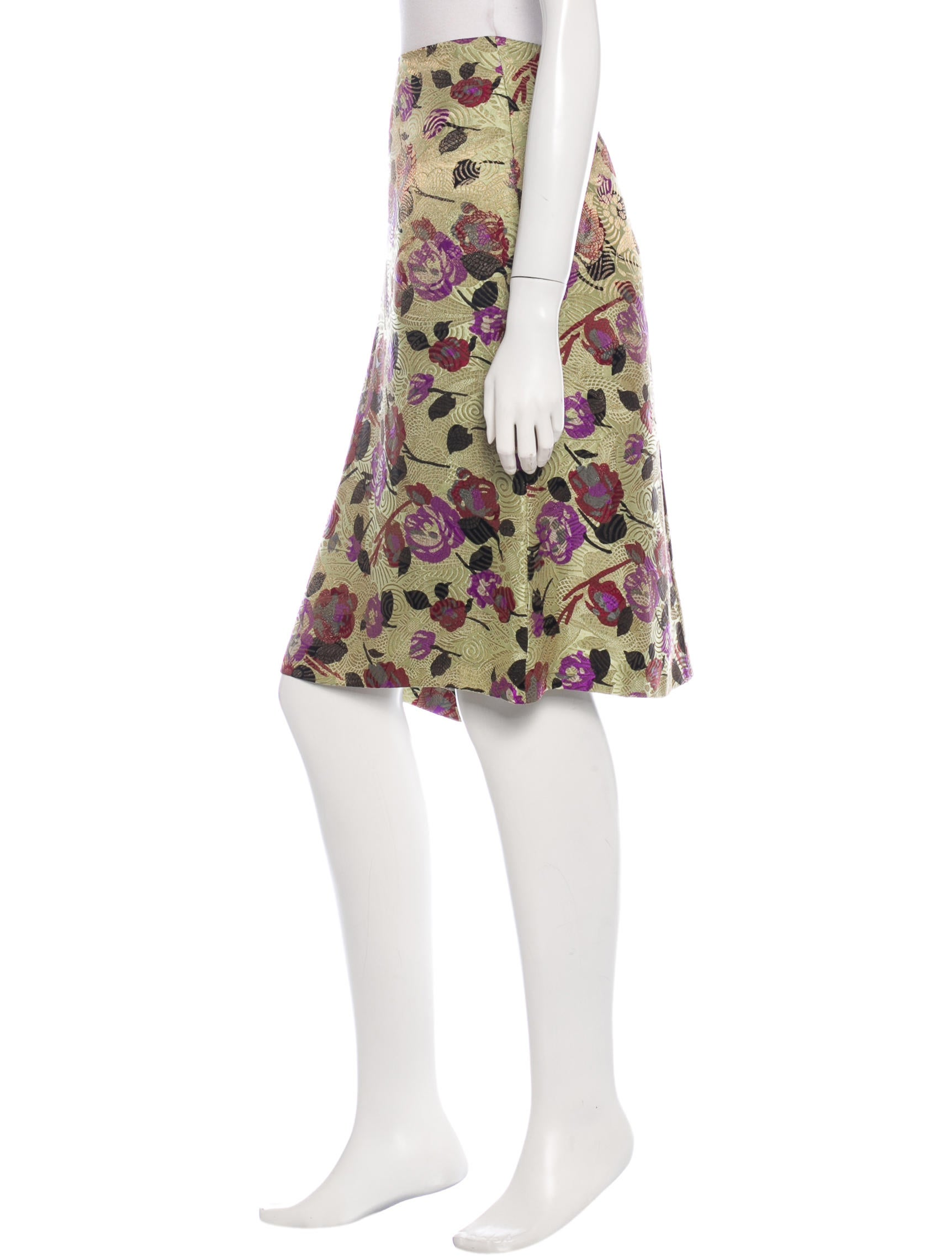 dries noten floral knee length skirt clothing