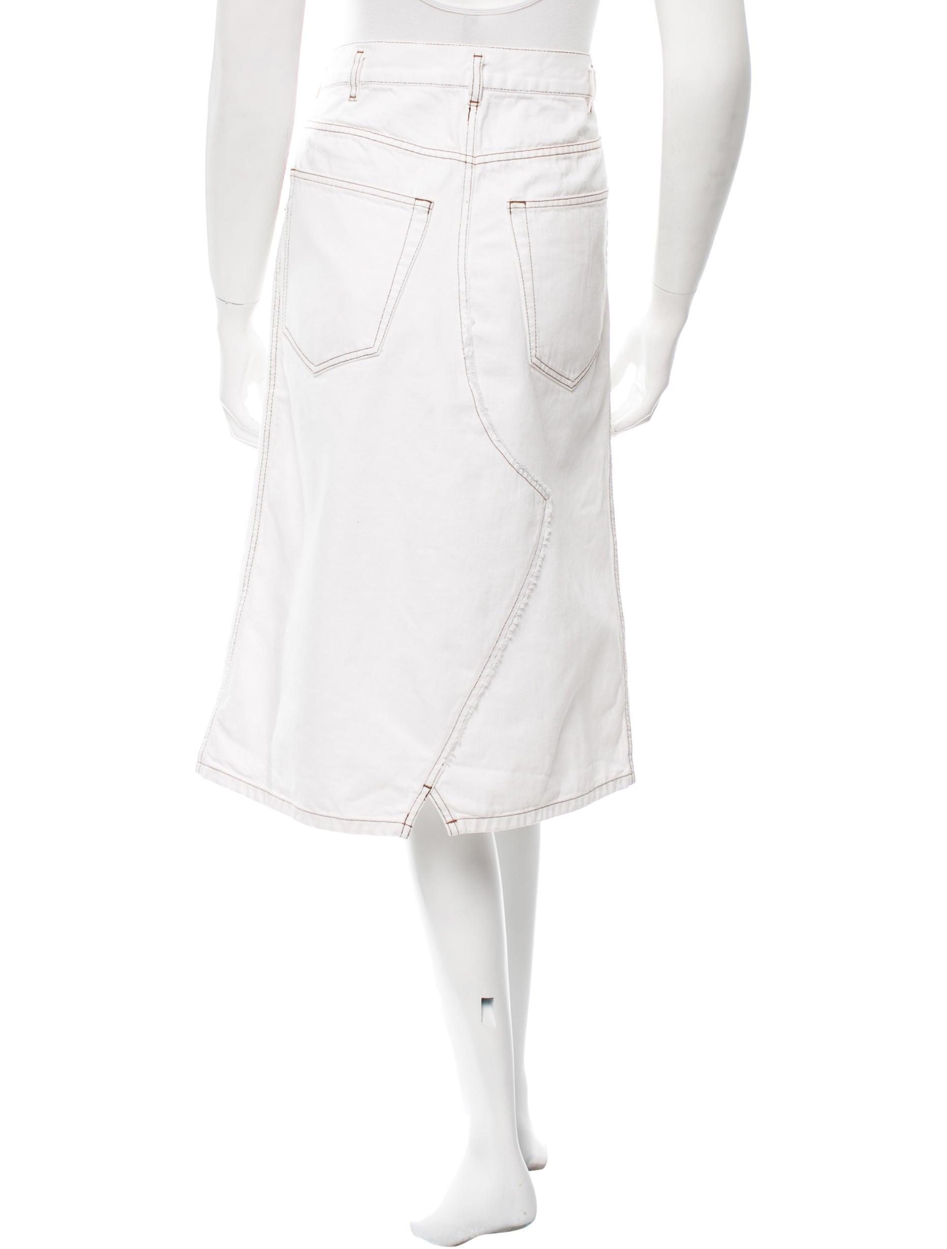 dries noten denim knee length skirt clothing