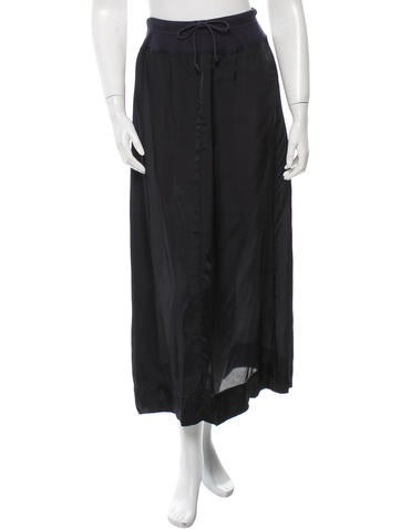 Dries Van Noten Drawstring-Accented Midi Skirt None