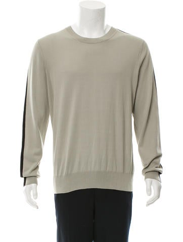 Dries Van Noten Long Sleeve Crew Neck Sweater None
