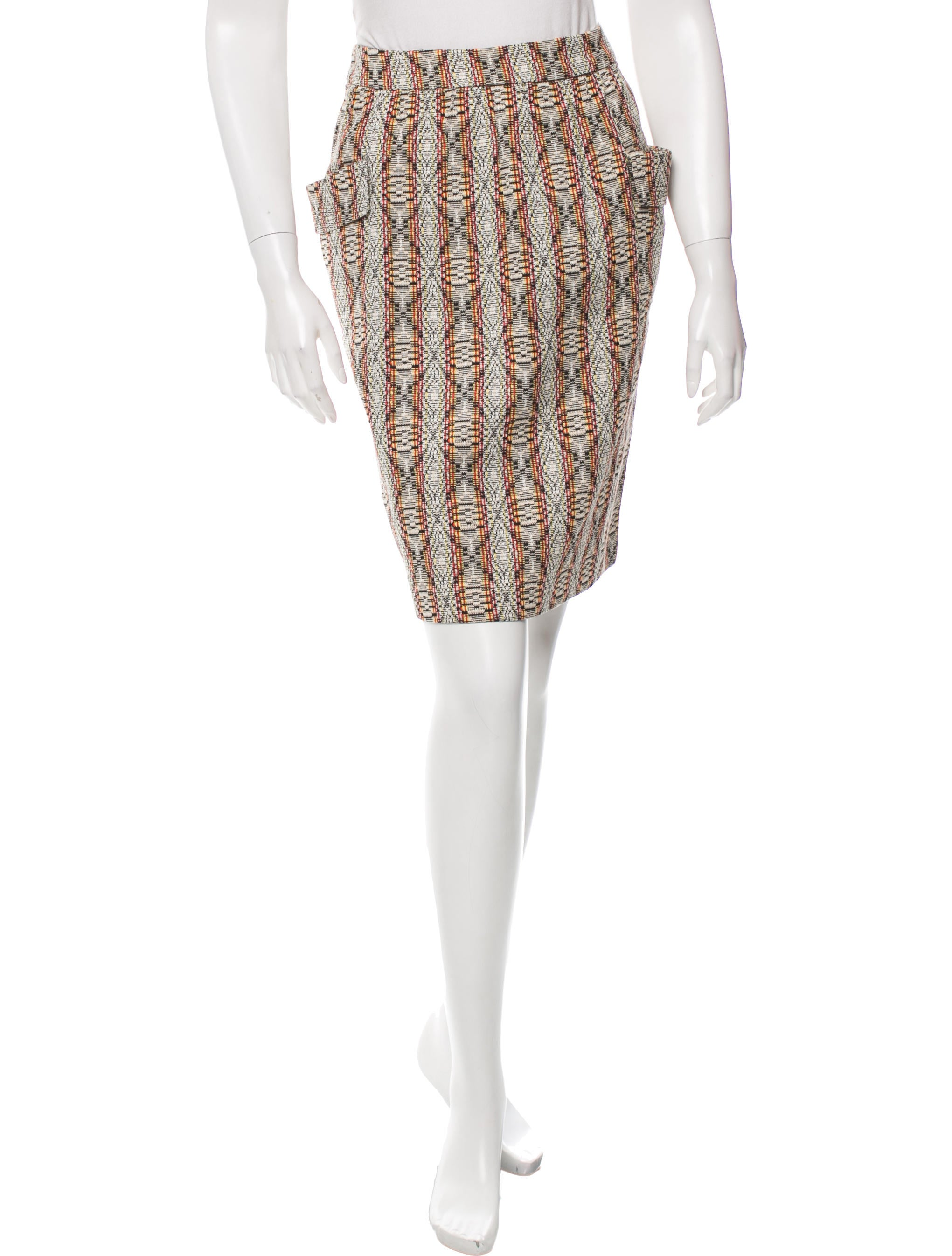 dries noten patterned pencil skirt clothing