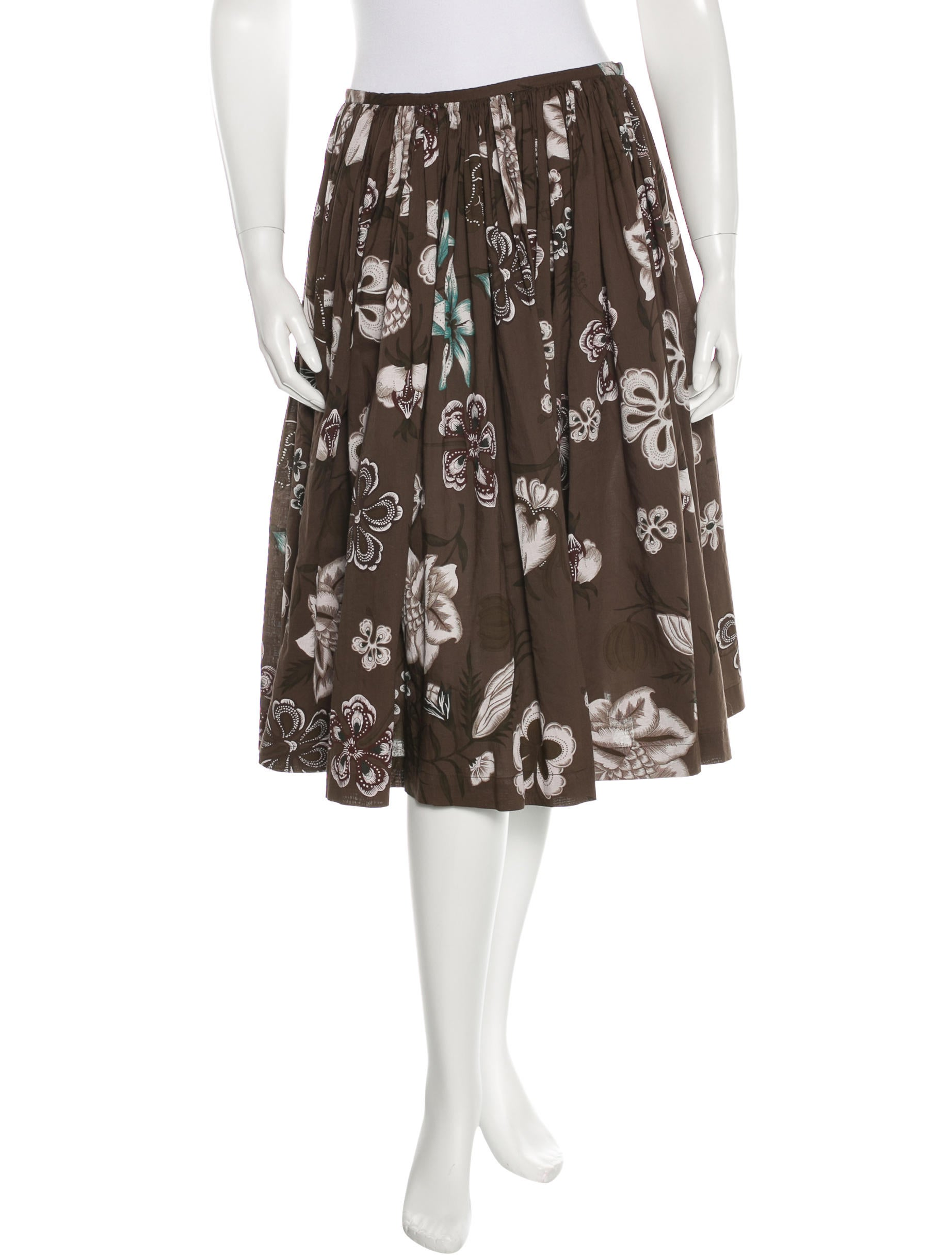 dries noten floral print knee length skirt clothing