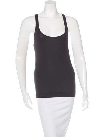Dries Van Noten Sleeveless Rib Knit Top None