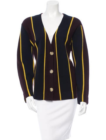 Dries Van Noten Wool Striped Cardigan w/ Tags None