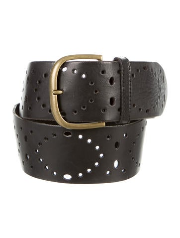 dries noten perforated leather belt accessories