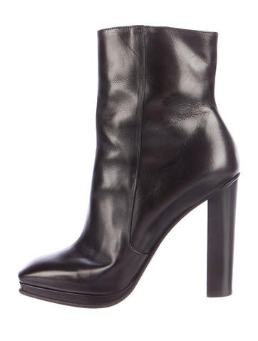 Dries Van Noten Iridescent Square-Toe Ankle Boots