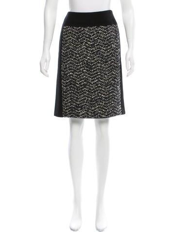 Dries Van Noten Mohair Pencil Skirt None
