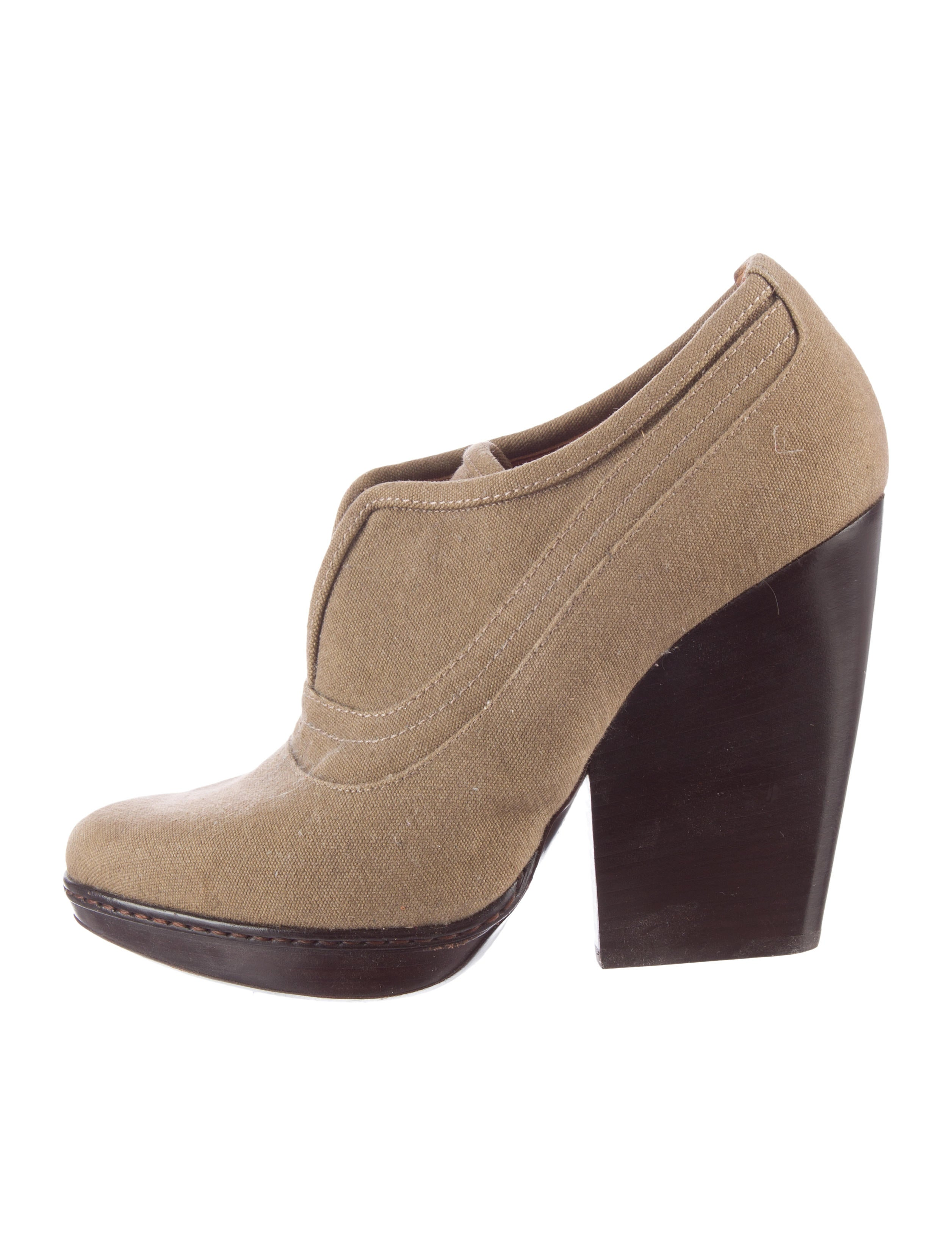 dries noten canvas ankle booties shoes dri33559