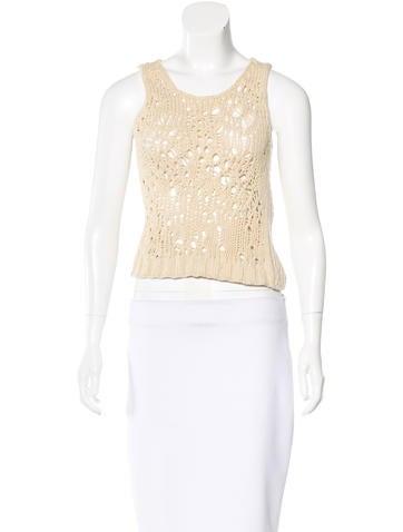 Dries Van Noten Open-Knit Sleeveless Sweater None