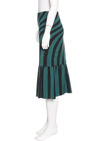 Striped Midi Skirt w/ Tags