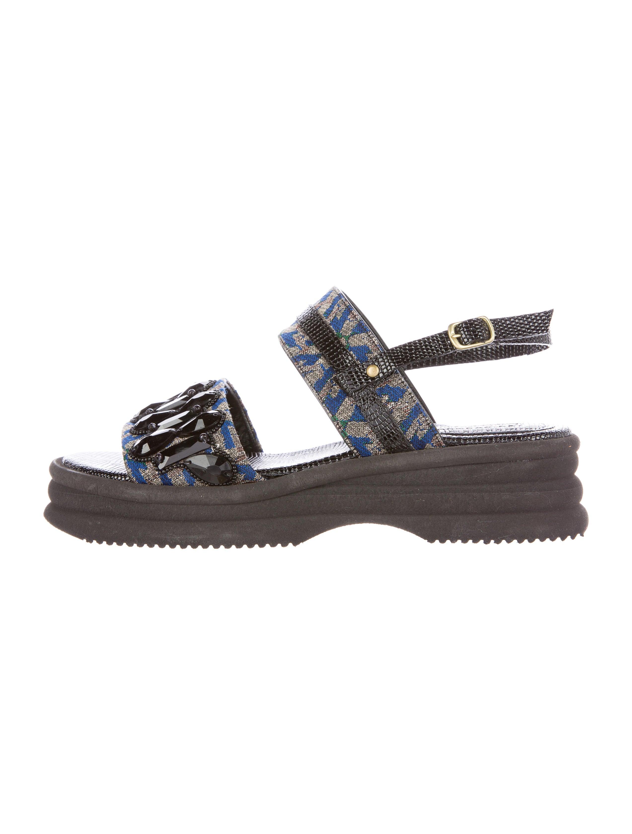 Dries Van Noten Brocade Wedge Sandals - Shoes - DRI33760  9b2bd1a3e