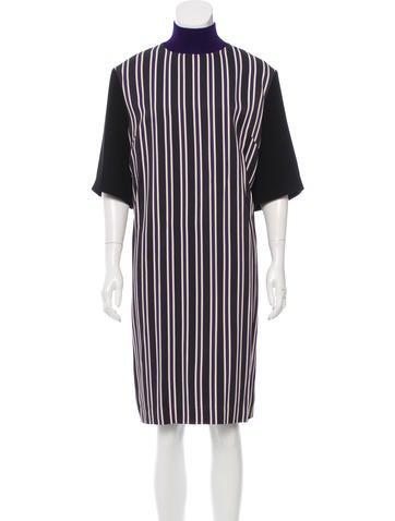 Dries Van Noten Striped Shift Dress w/ Tags None