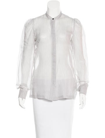 Dries Van Noten Striped Button-Up Top