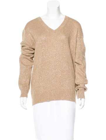 Dries Van Noten Wool Metallic Sweater None