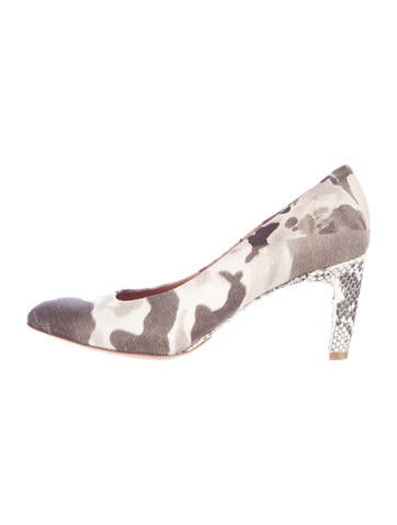 Dries Van Noten Printed Canvas Pumps