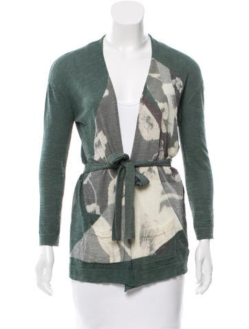 Dries Van Noten Printed Wool Cardigan None