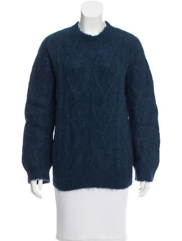 Dries Van Noten Alpaca Cable Knit Sweater None