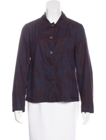 Dries Van Noten Printed Button-Up Top None